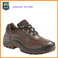 CE EN 20345 brown genuine leather upper dual density PU outsole safety shoes dubai
