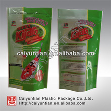 Fish food packaging bags/Aluminium foil pouch with zipper