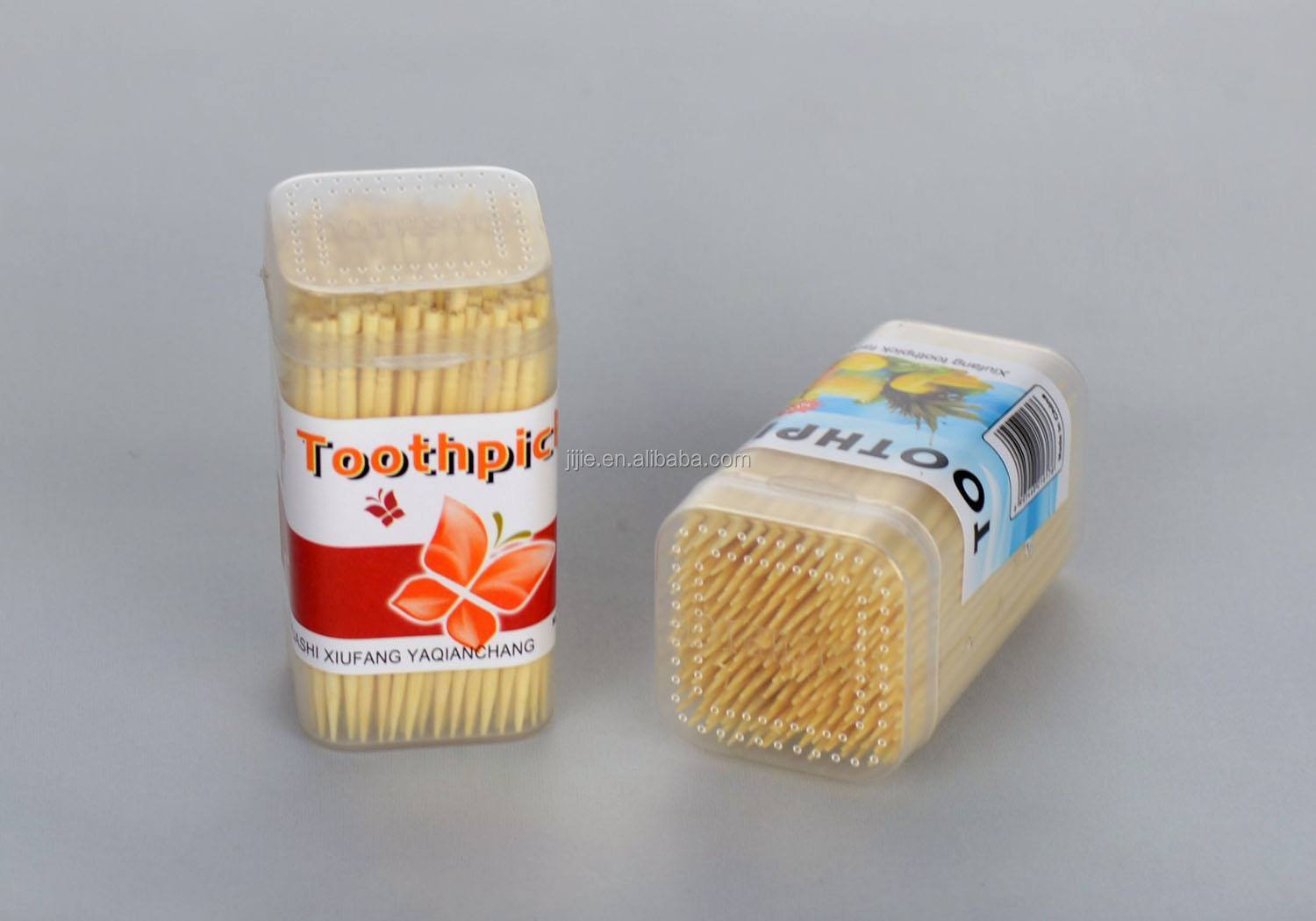 bamboo toothpicks with square bottle 100pcs