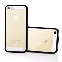 Clear Protective Anti-skidding custom Hybird TPU+PC Bumper Case for iphone 5 5s, crystal stone mobile cover
