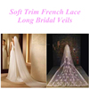 Beaded Soft Trim Bridal Veils French Lace Applique Beaded Soft Trim Bridal Veils Wedding Accessories French Lace Bridal Veils