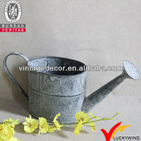 wholesale oval french antique mini garden decorative metal tin watering can water can