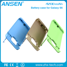 phone cover charger unique portable power bank mobile case powerbank for samsung galaxy s6 battery case
