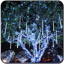LED meteor shower rain tube lights outdoor