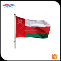 Hot selling cheaper price 90*150 cm size oman national flag with dye sublimation printing