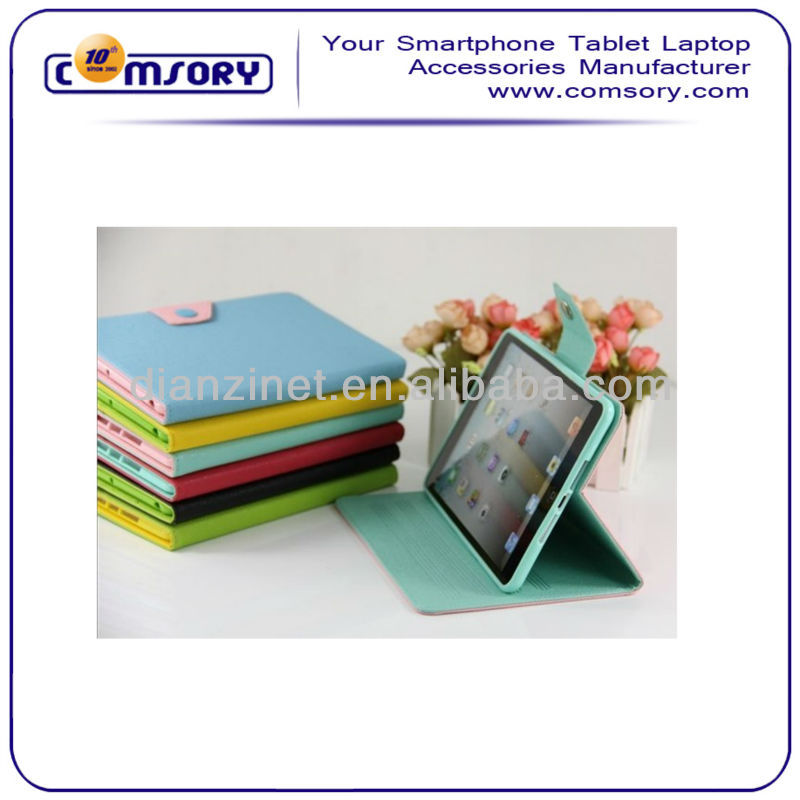 Contrast Color Stand PU Leather Case for iPad Mini accept Paypal