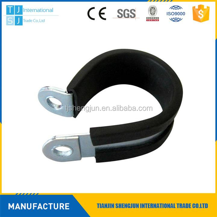 Hot selling hanging pipe clamp stainless steel rubber fixing hose clamp