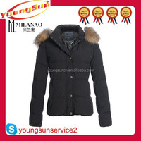 Hot selling super warm down jackets short woman