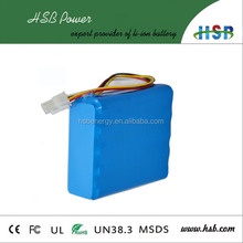 factory price 1800mah li-ion battery 18650 7.4v 7200mah 2s4p li ion battery for portable fax machines, medical equipment