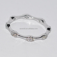 14k white gold Princess Diamond Ladies Anniversary Wedding Band Ring stackable