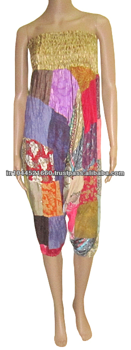 Indian Yoga Gypsy Boho Pants Baggy Vintage Silk Aladdin Trousers