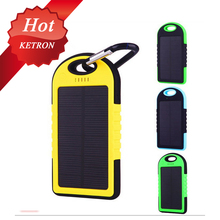 portable 5000mah portable solar charger for samsung mobile phone