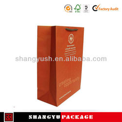 Promotional wine bottle paper gift bag ,Newest customized paper wine gift bag