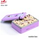 Cute rectangular cookie/biscuit/chocolate tin box with 0.23mm tinplate