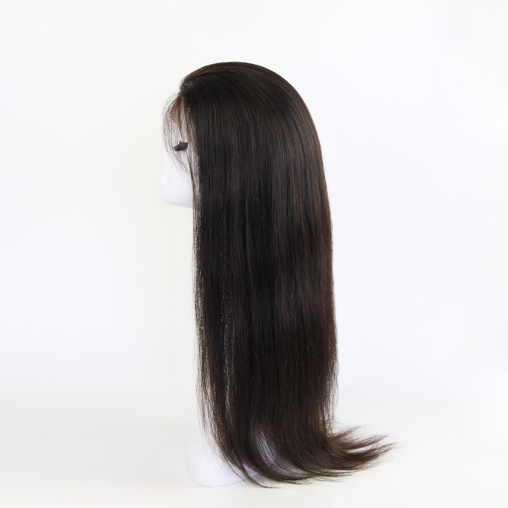 Full Lace Wig Silk Top Human Hair With Clips