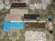 Semi Precious, Gemstone and Sea Shell Tiles and Borders