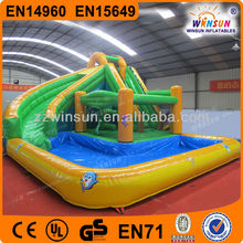 Commmercial high quality new cheap cool summer residential inflatable water slides