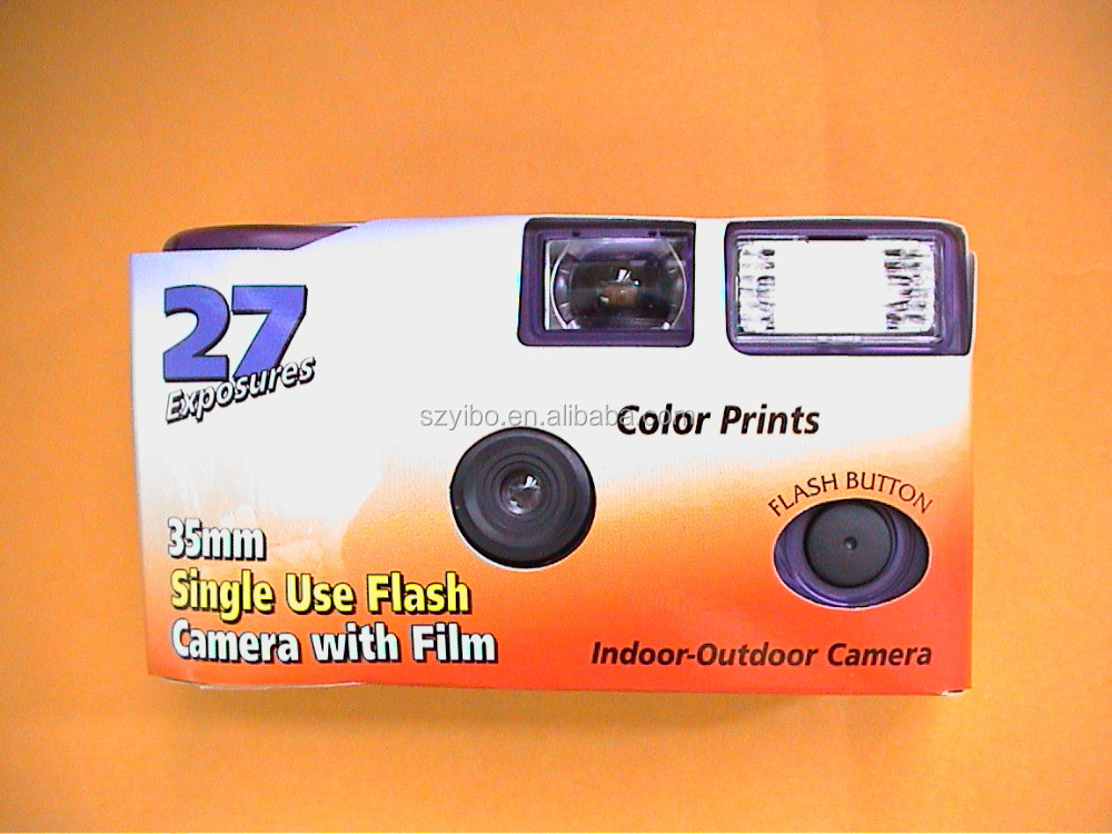 Recycled Camera--Cheap Wholesale Disposable Camera with 35mm Fuji film and customised packaging
