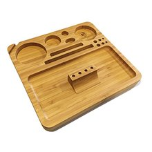 Large Bamboo Magnetized Rolling Tray with removable rolling jig