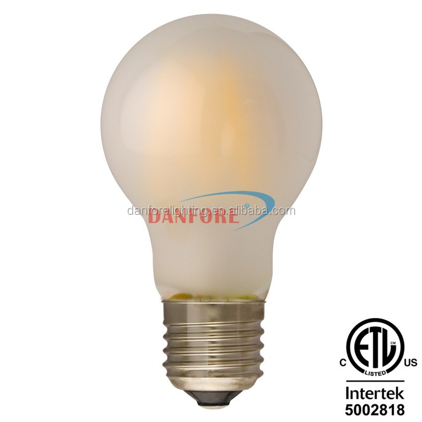 China led filament bulb manufacturer made 5W A60 A19 E27 Edison LED Bulb with frosted glass cover