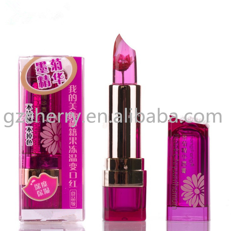 Hot selling high quality jelly flower lipstick