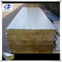 Blue color 50thickness 950 Rock wool Sandwich Panel for roofing /warehouse /prefab house home/building project