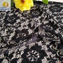Black fabric jacquard lace for wedding dress