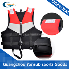 Life saving life jackets for sea work and water sports