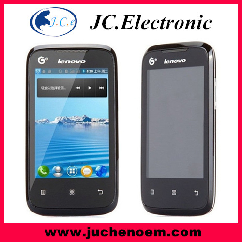 Original Lenovo A208T SC8810T Unlocked Cell Phones 4 inch Single SIM Android 2.3 WIFI 2MP Camera Smartphones low price