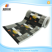 Black/Custom laminating packaging plastic bags for Puffed/Chip/Snack foods
