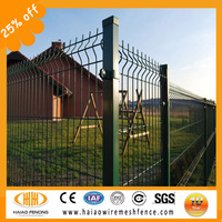 3D Curved Hook Style Green Vinyl Coated Welded Wire Mesh Fence / bule vinyl coated welded wire mesh fence ( factory price)
