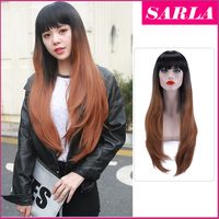 SARLA Wholesale two tone ombre syntetic hair wig sweet side fashion women wigs