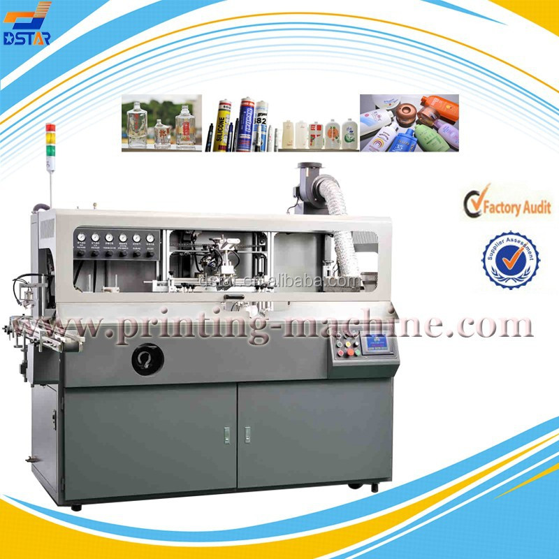 DX-S101 1 color plastic and glass cosmetic bottle <strong>screen</strong> printing machine