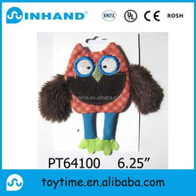 Custom OEM design plush owl toy/promotional hot sale animal gift