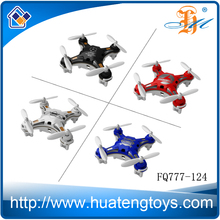 2.4G RC Micro Quadcopter fuqi model fq777-124 Pocket Drone with Double Accelerator 7CM mini drone