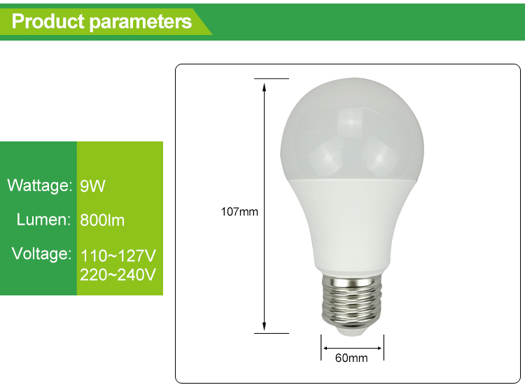 Hot sale new products 9w led home bulbs light