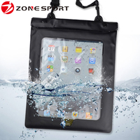 China product PVC waterproof tablet PC for iPad 2/3 case with Earphone jack