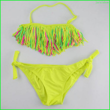 Manufacturer custom size children bikini little girl swimwear