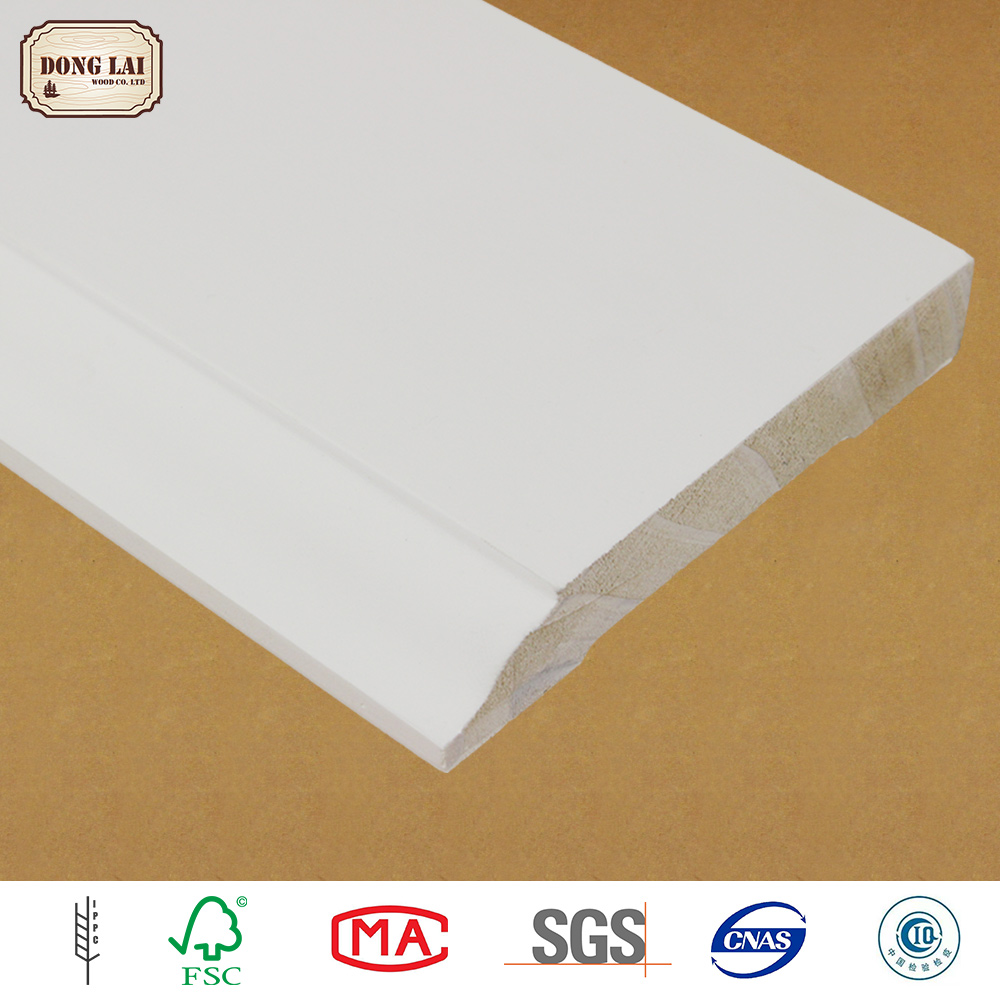 OEM High Quality Wood Plastic Composite Skirting Board