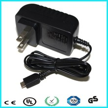TUV EU UK AU US plug 12v 1a ac dc power supply for led CCTV camera