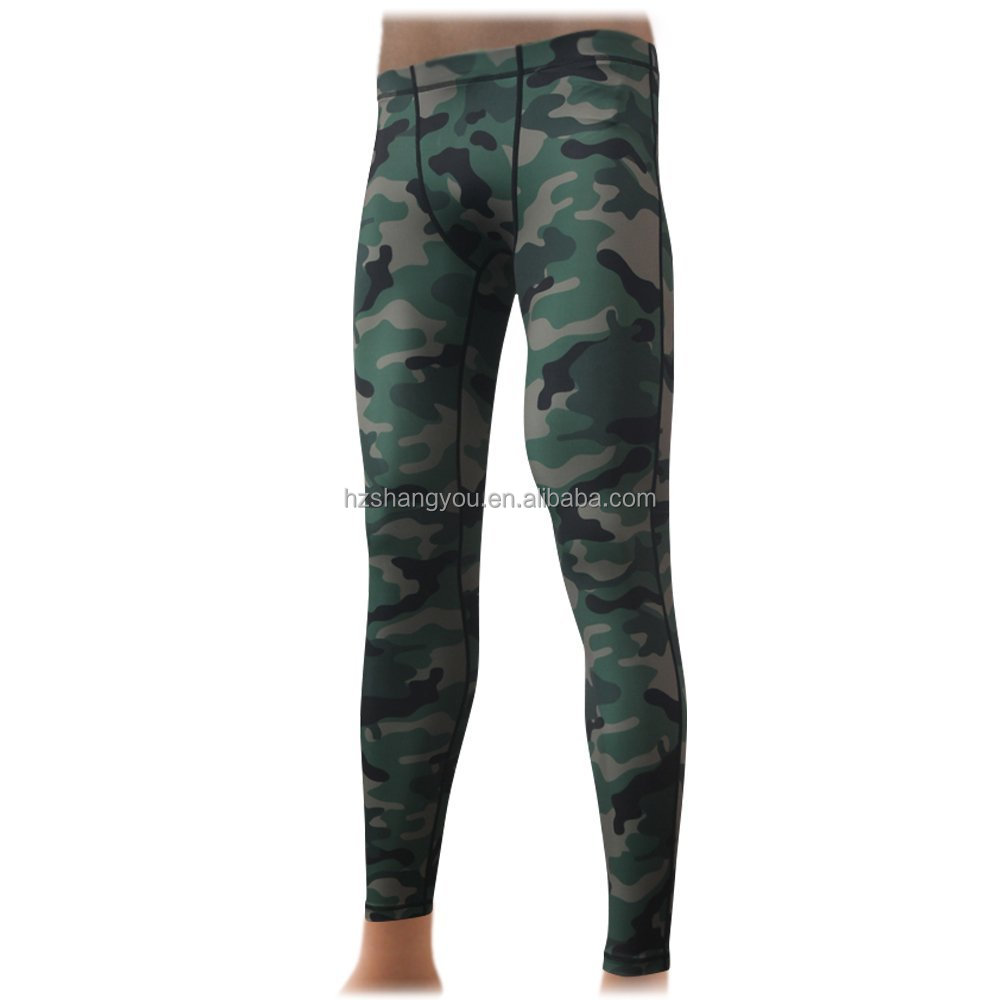 Camouflage men's quickdry compression wear compression pant Base Layer Leggings tight