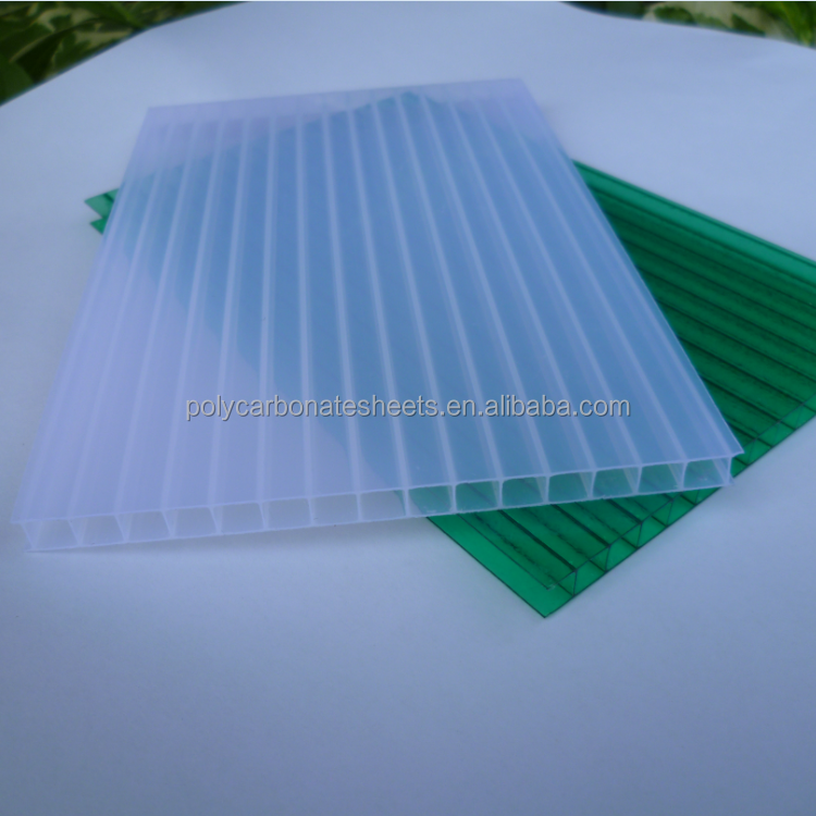 Polycarbonate Roofing Sheet Twin Wall Hollow Sheet PC Awning Canopy