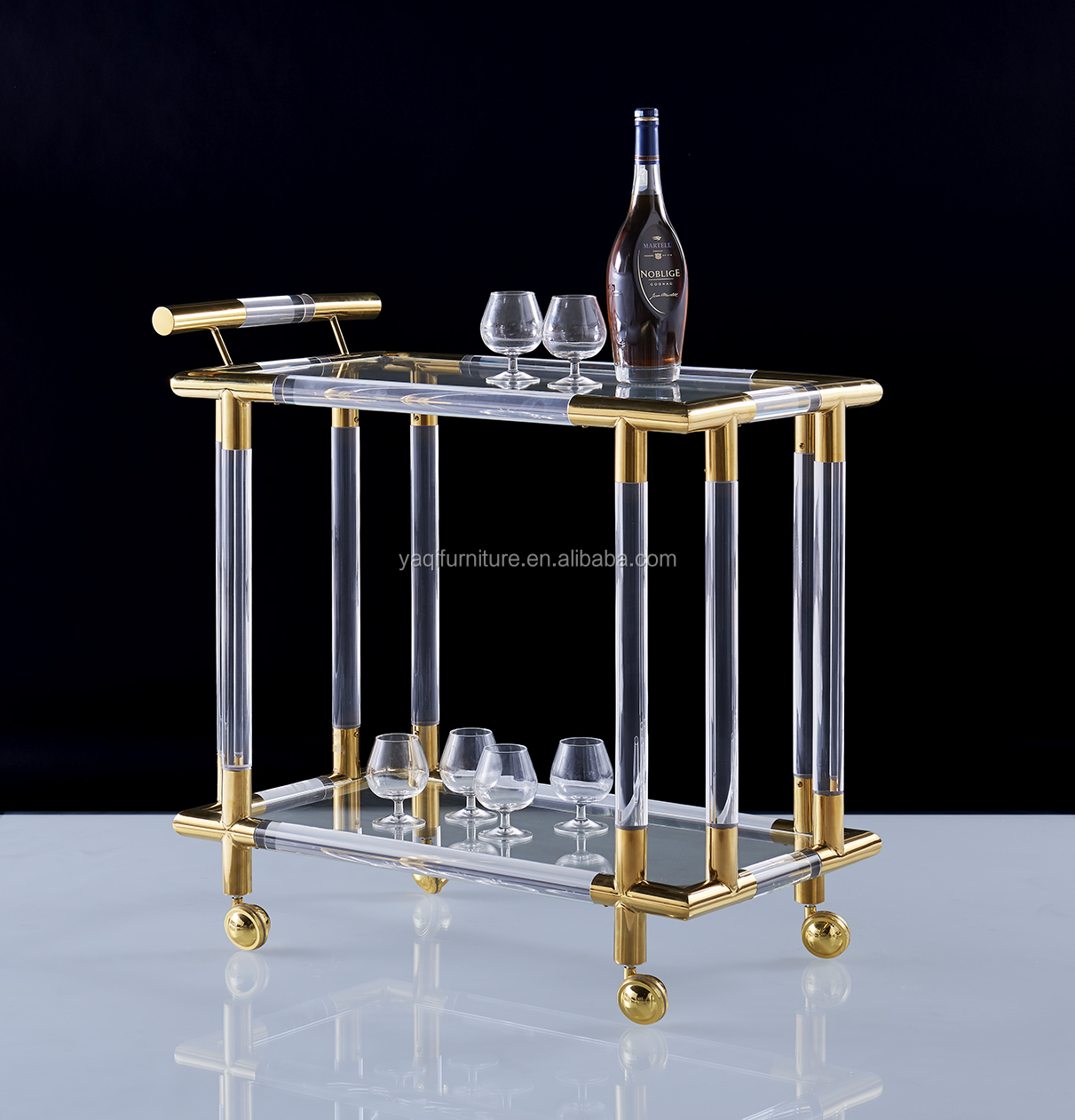 Square acrylic table for dining room confortable and popular coffee table