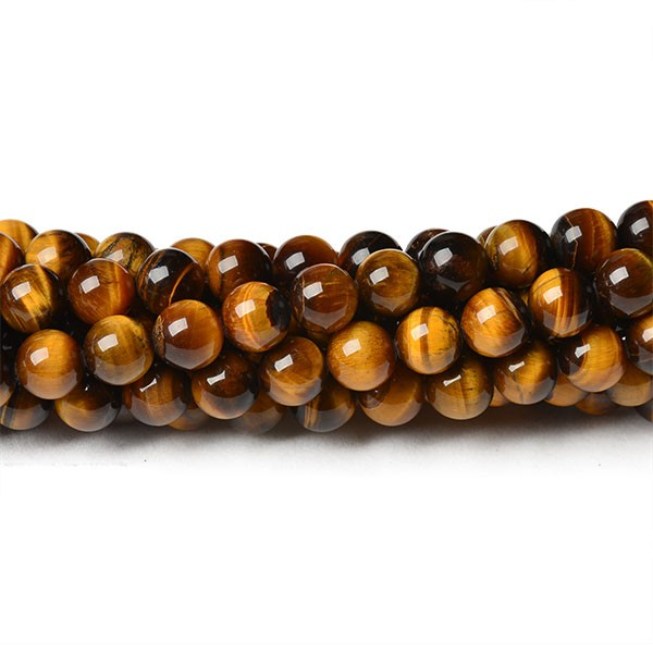 Wholesale Tiger Eye Round Beads For Jewelry Making