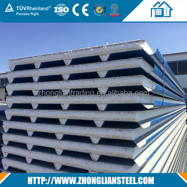 High quality CE approved lightweight Fireproof xps eps sandwich wall panel price