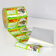 Plastic Food Wrapping Metalized Opp Film / Custom Printing Snacks Sachet Packaging Roll Film