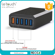 CE ROHS Approval 5 ports usb qc2.0 station charger with 1M EU/US/AU Power cord for option