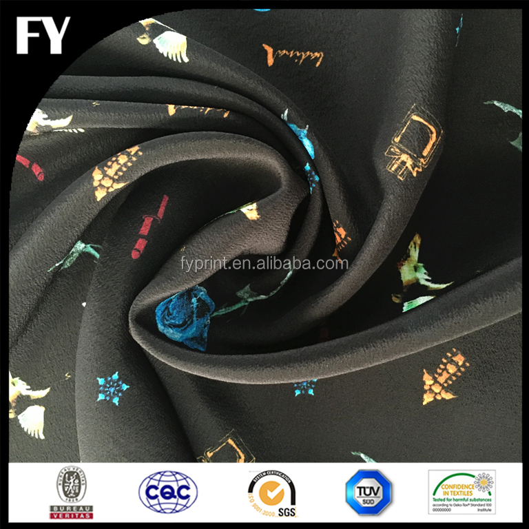 Factory Direct Custom Digital Printed Silk Georgette Fabric