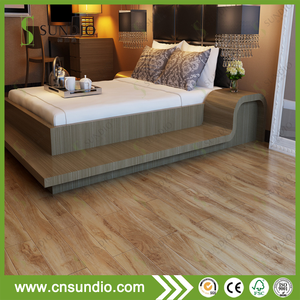 Artistic parquet oak wood grain wood pvc flooring 6mm thick