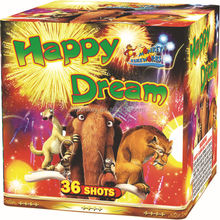 Cake and Display shell firework 1.2' 36Shots happy dream